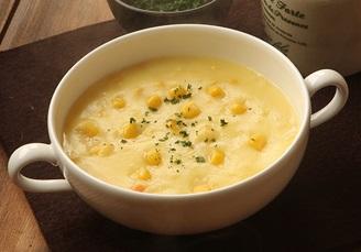 ピザーラのコーンクリームスープ