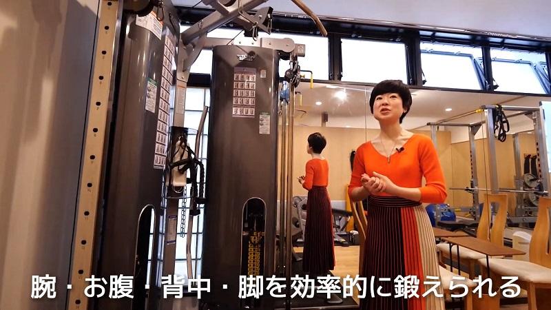 BiP田町店で使われているトレーニングマシン
